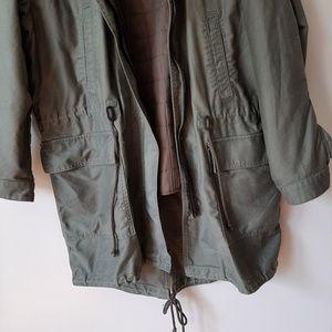 GAP Jackets & Coats - GAP Parka Winter Military Army Green Hooded Jacket